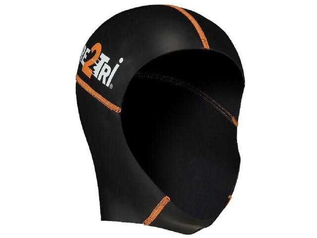 Dare2Tri Neoprene Bonnet de bain, black/orange
